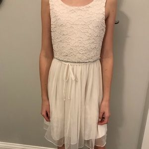 Formal off-white dress